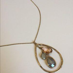 Charter Club 3-Crystal Teardrop Necklace